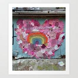 Unweaving a Heart to Weave a Rainbow Art Print