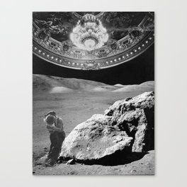 Lovers on the Moon part 2 Canvas Print