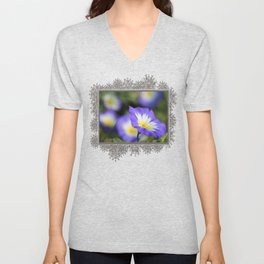 Morning Glory named Blue Ensign Unisex V-Neck