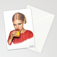 Lindsay At 9 AM Stationery Cards
