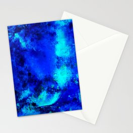 psychedelic color gradient pattern splatter watercolor blue Stationery Cards
