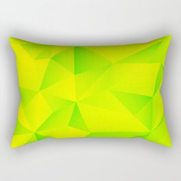 Geometry Lime Extraction Rectangular Pillow