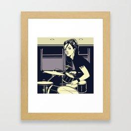 Drum Girl Framed Art Print