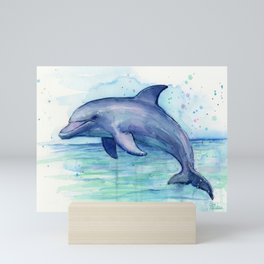 Dolphin Watercolor Sea Creature Animal Mini Art Print
