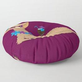 Bahama Llama Floor Pillow