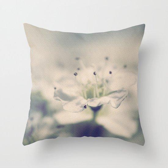 Spiraea Flower Throw Pillow