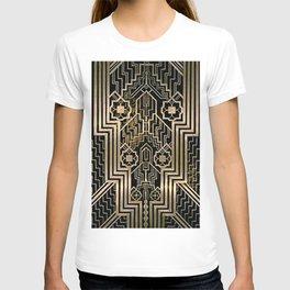 Art Nouveau Metallic design T-shirt