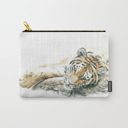 Siberian Tiger Lying Down Carry-All Pouch