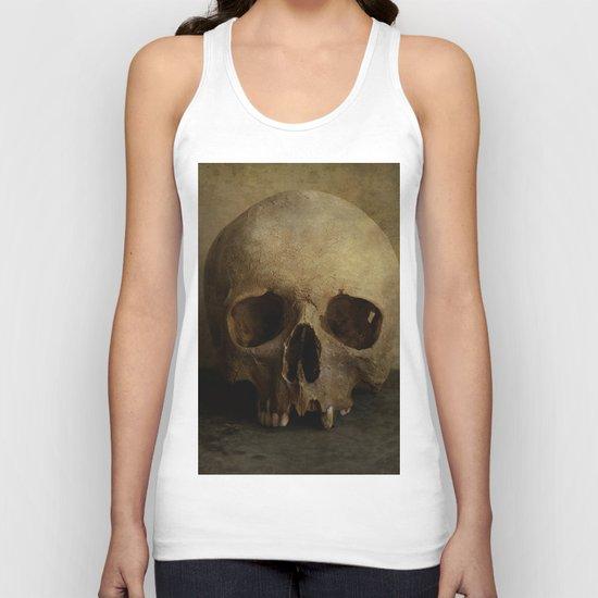 Male skull in retro style Unisex Tank Top