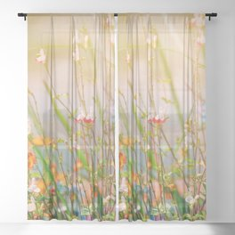 Field of Flowers Sheer Curtain