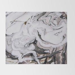 Elegant dark swirls of marble Throw Blanket