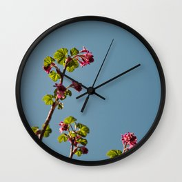 Ribes Plant Wall Clock