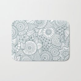 Pattern flower Bath Mat