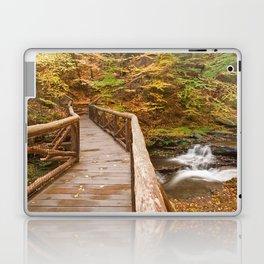 Autumn Boardwalk Bridge Laptop & iPad Skin