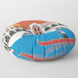 Venice, Italy - Skyline Illustration by Loose Petals Floor Pillow