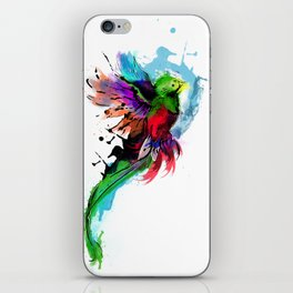 Watercolor Quetzal  iPhone Skin