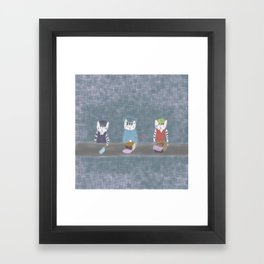 Three musketeers Framed Art Print