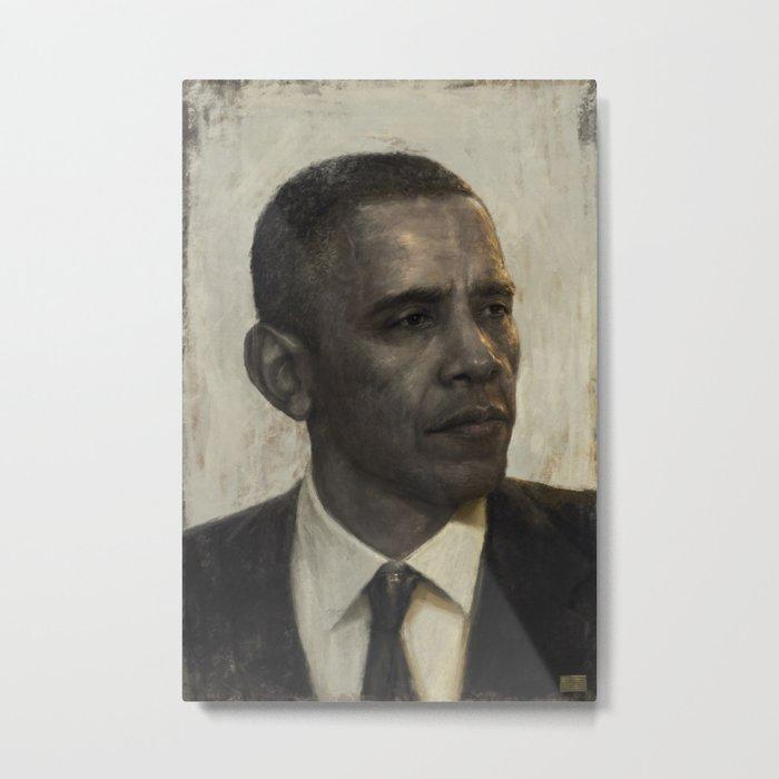 """""""Golden Age"""" - Portrait of President Barack Obama Metal Print"""