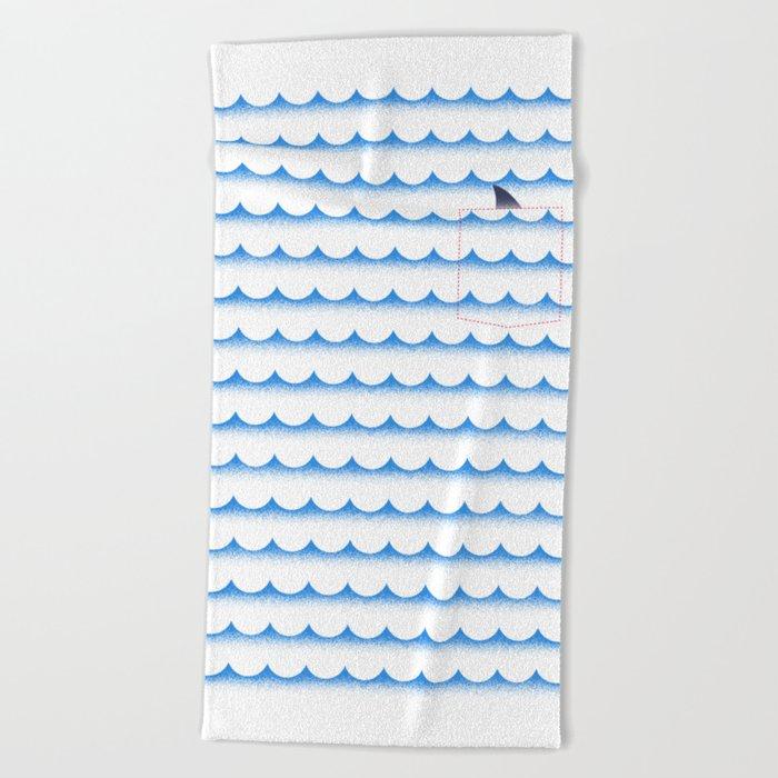 Ocean shark Beach Towel