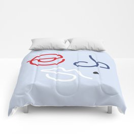 Fractured Art Face Pattern Comforters