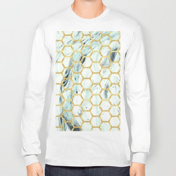 Teal + Gold #society6 #decor #buyart Long Sleeve T-shirt