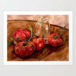 Canning Tomatoes Art Print