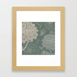 Cocoa Paisley VI Framed Art Print