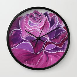Knitted Flower Artwork Wall Clock