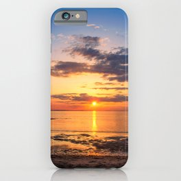 Sunset Breakwater Lighthouse Coastal Landscape iPhone Case