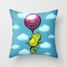 BubbleCroco Throw Pillow