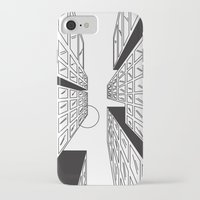buildings iPhone & iPod Cases featuring Buildings by Koral Feria