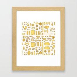 Pasta, a pattern. Framed Art Print