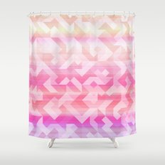 Geometric Sunset Shower Curtain