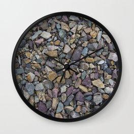 Pebbles on Lake Champlain Wall Clock