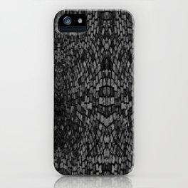 Shades of grey glasslite brick iPhone Case