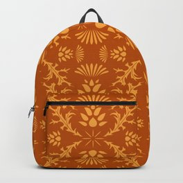 Thistles on Orange Backpack