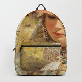 Girl With Kokoshnik - Konstantin Makovsky Backpack