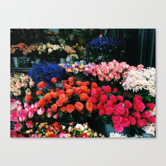 Flowers in the Grounds Canvas Print