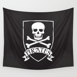 pirate symbol (coat of arms) Wall Tapestry