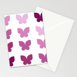 Butterflies in Purple Ombre Stationery Cards