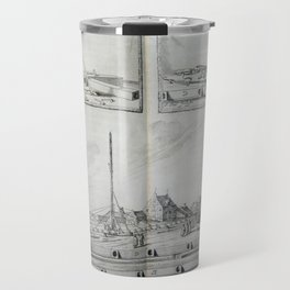 Johannes Hevelius - Celestial Devices, Part 1 - Plate 4 Travel Mug
