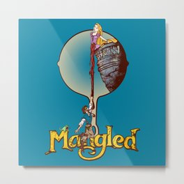 """MANGLED"" Metal Print"