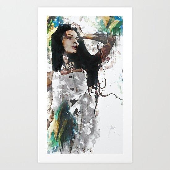 Wonder Abstract Portrait Art Print