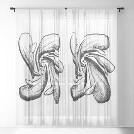 WHALE TALES Sheer Curtain