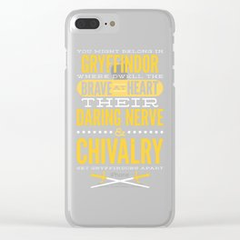 Gryffindor Clear iPhone Case