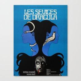 Vintage Horror film poster -Twins of Evil (1971) Canvas Print