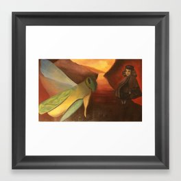 At work Framed Art Print