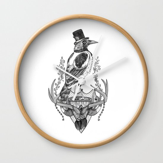 Mr. Magpie Wall Clock