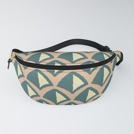 Classic Hollywood Regency Pyramid Pattern 239 Beige Yellow and Green Fanny Pack