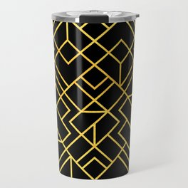 South Beach Art Deco Pattern Travel Mug
